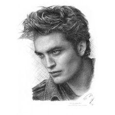 Drawn vampire pencil drawing A5 Drawing Jonathan Vampire size