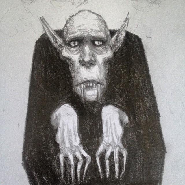 Drawn vampire pencil drawing #sketchbook nosferatu sketch #vampire Instagram