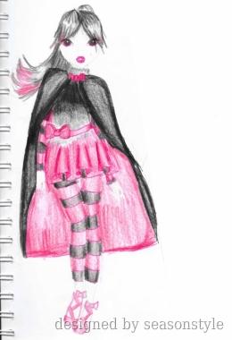 Drawn vampire pink Pink Vampire Design drawn Pretty