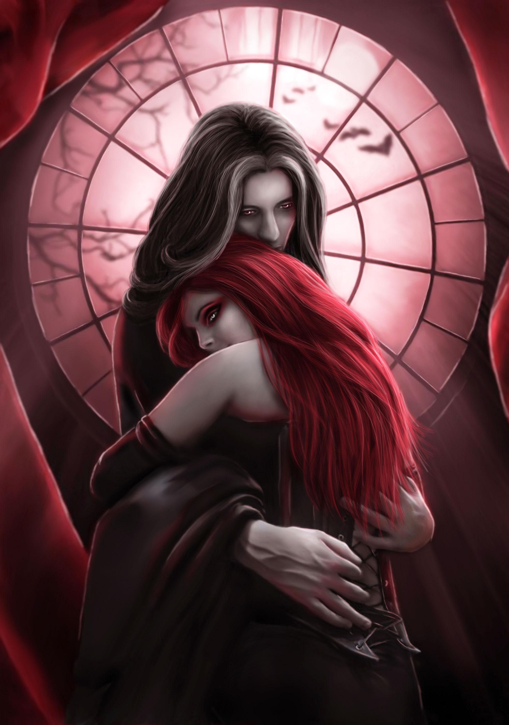 Drawn vampire pretty female In Most Seen Beautiful The