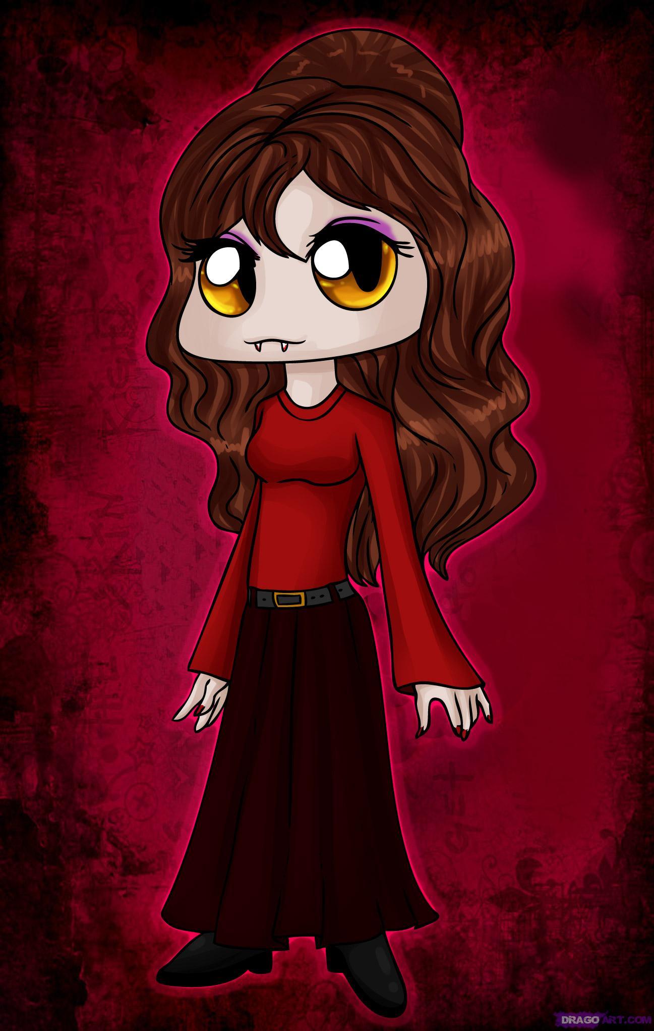 Drawn vampire pretty female Chibi to Draw draw Cartoon