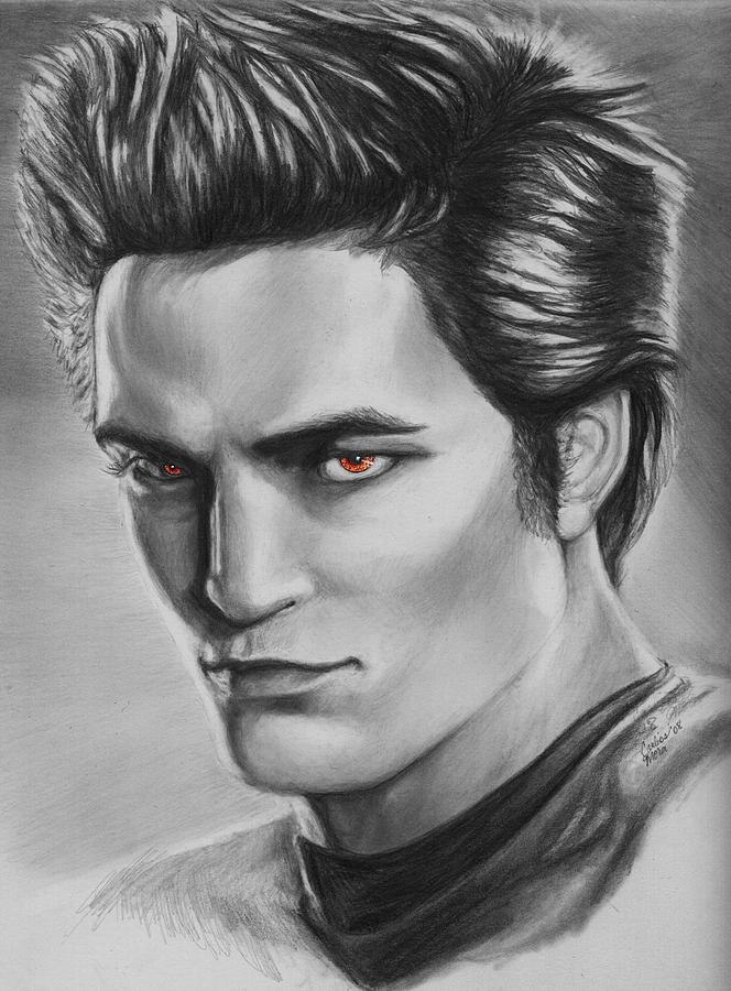 Drawn vampire robert pattinson Vampires Vampire Cullen  Cullen