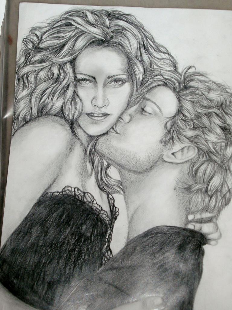 Drawn vampire robert pattinson This drawing Bella part of