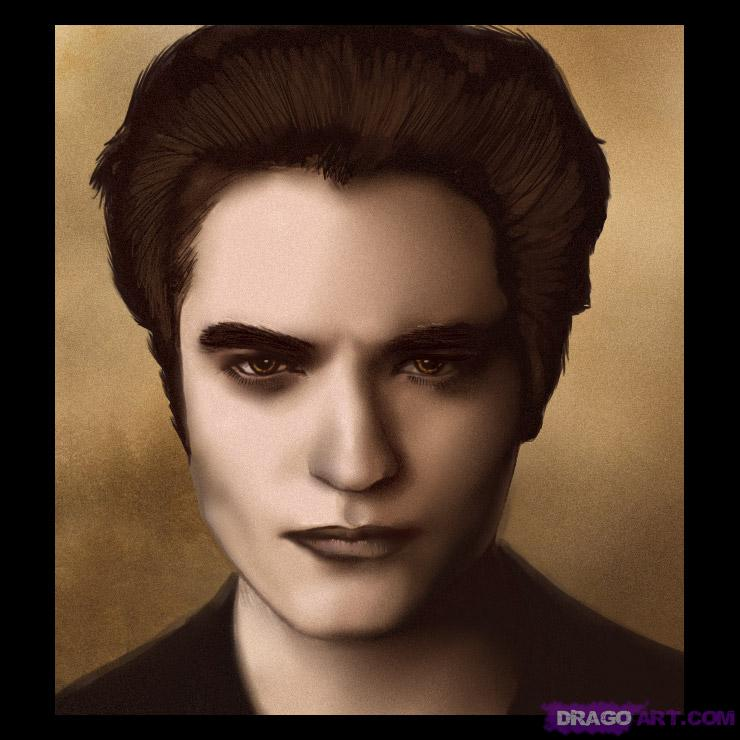 Drawn vampire robert pattinson Cullen robert to Pattinson Twilight