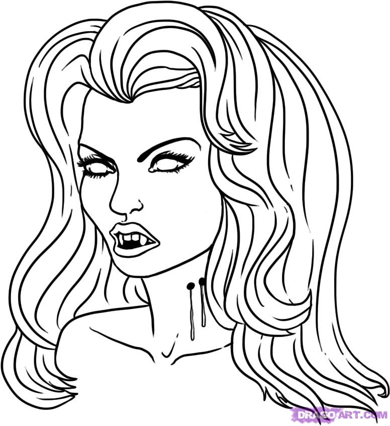 Drawn vampire simple Drawing Simple 5jpg Step How
