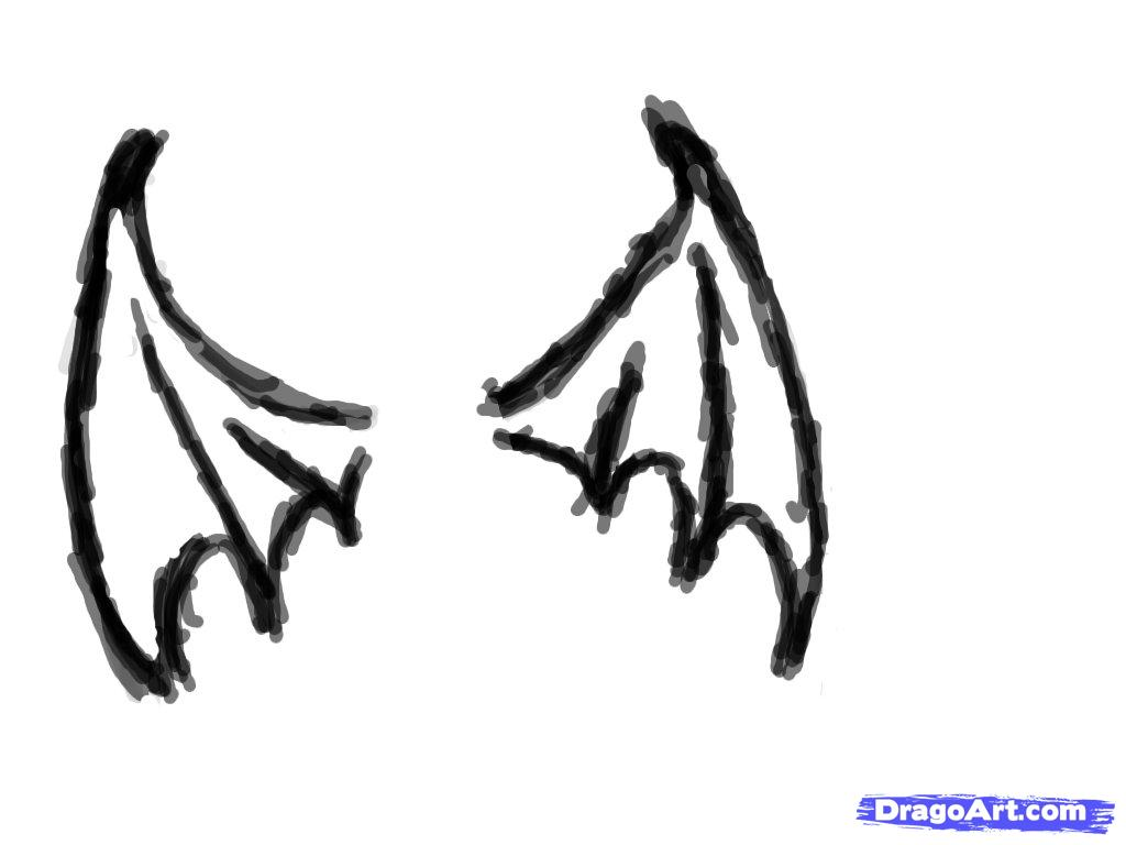 Drawn vampire simple Drawing Simple 000000096155 Wings How