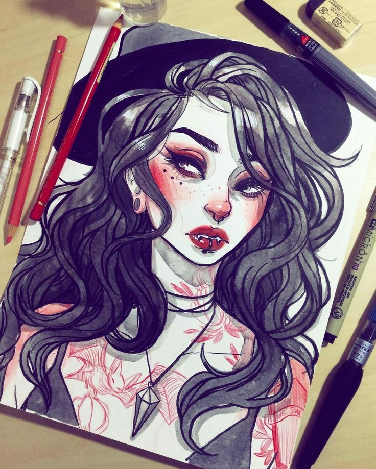 Drawn vampire sketch Deleon Pinterest Drawing drawings on