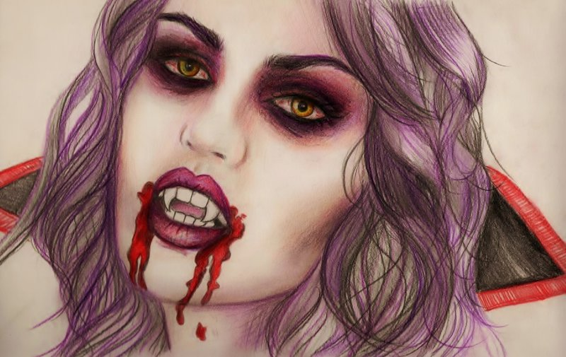 Drawn vampire sketch By DeviantArt jennasartwork by on