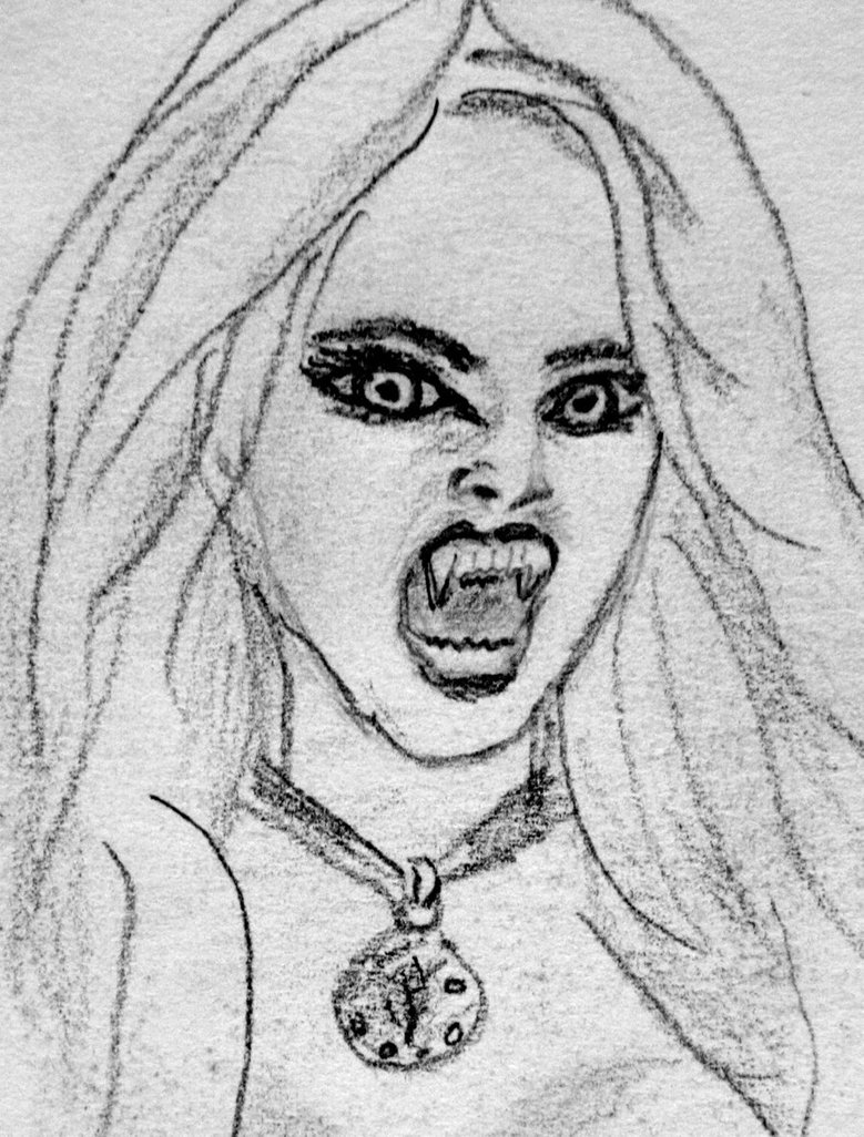 Drawn vampire sketch Vampire Realistic Images Drawing Photo