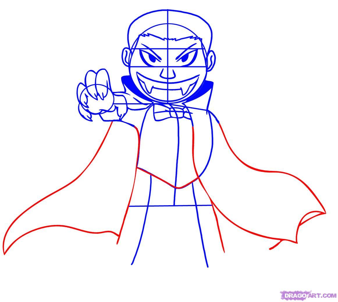Drawn vampire step by step By Step Cartoon how Step