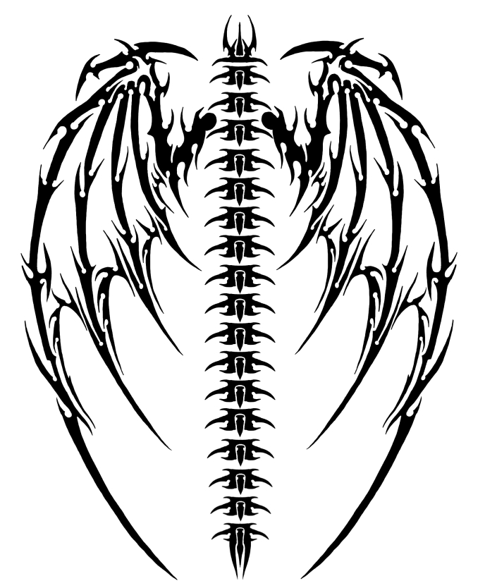 Drawn demon tribal #1