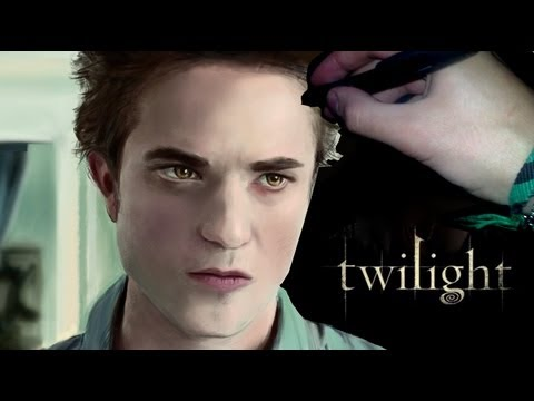 Drawn vampire twilight YouTube Twilight Pattinson Robert Pattinson