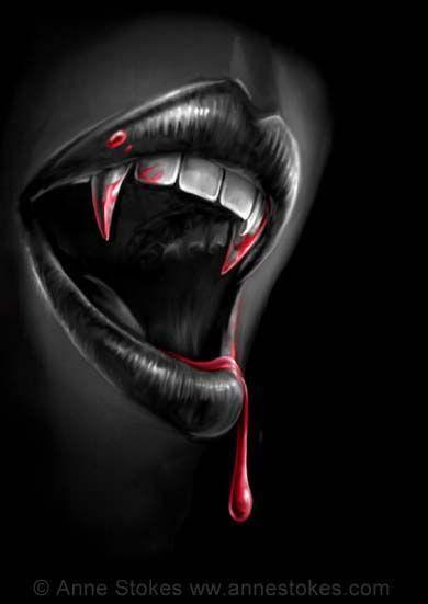 Drawn vampire vampire fang Vampire Vampire Anne both 25+
