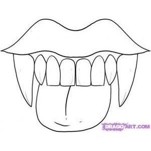 Drawn vampire vampire fang Draw Teeth to Step and