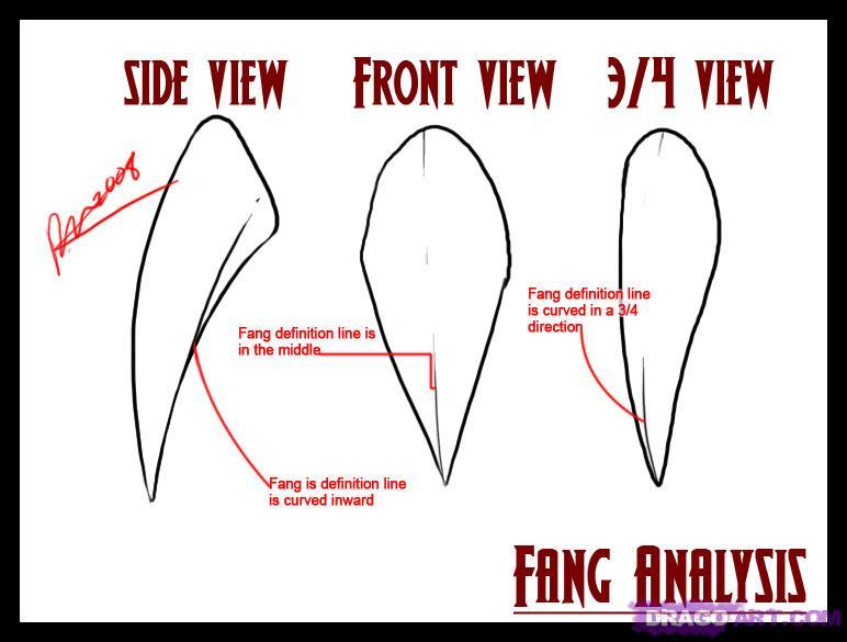 Drawn vampire vampire fang Step draw teeth Step Vampires