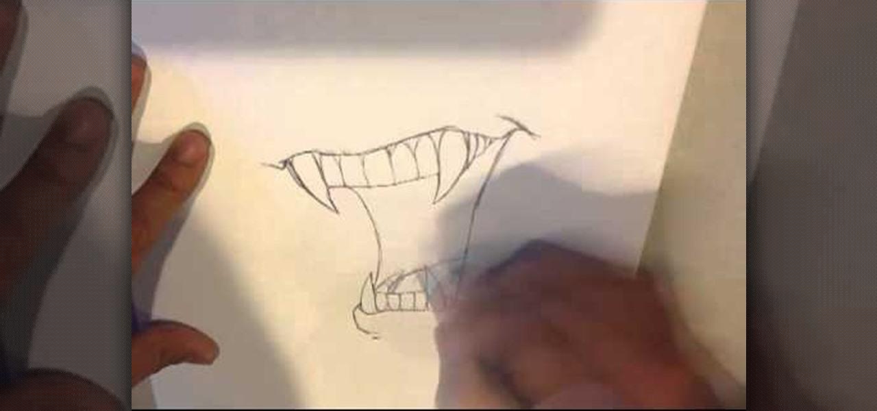 Drawn vampire vampire fang Fangs Vampire Vampire howtodrawfantasy Draw