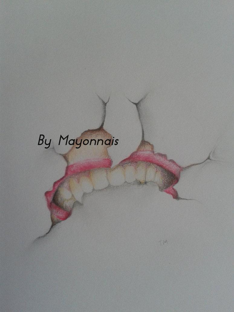 Drawn vampire vampire fang By Sketch Teeth Sketch Fangs