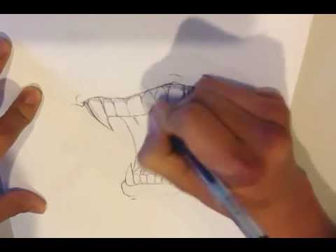 Drawn vampire vampire fang To YouTube How Fangs