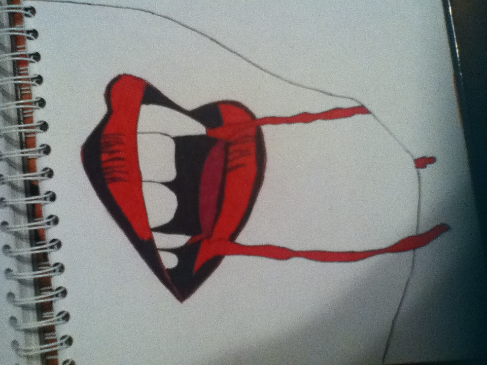 Drawn vampire vampire tooth Vampire Fangs Vampire Fangs Drawing