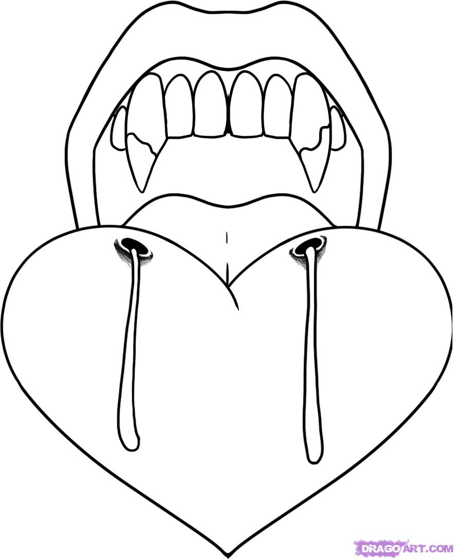 Drawn vampire vampire tooth Vampire Step  Step to