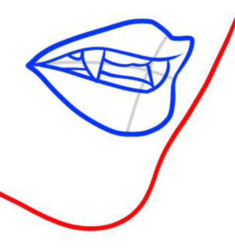 Drawn vampire vampire tooth Draw How  Vampire Teeth