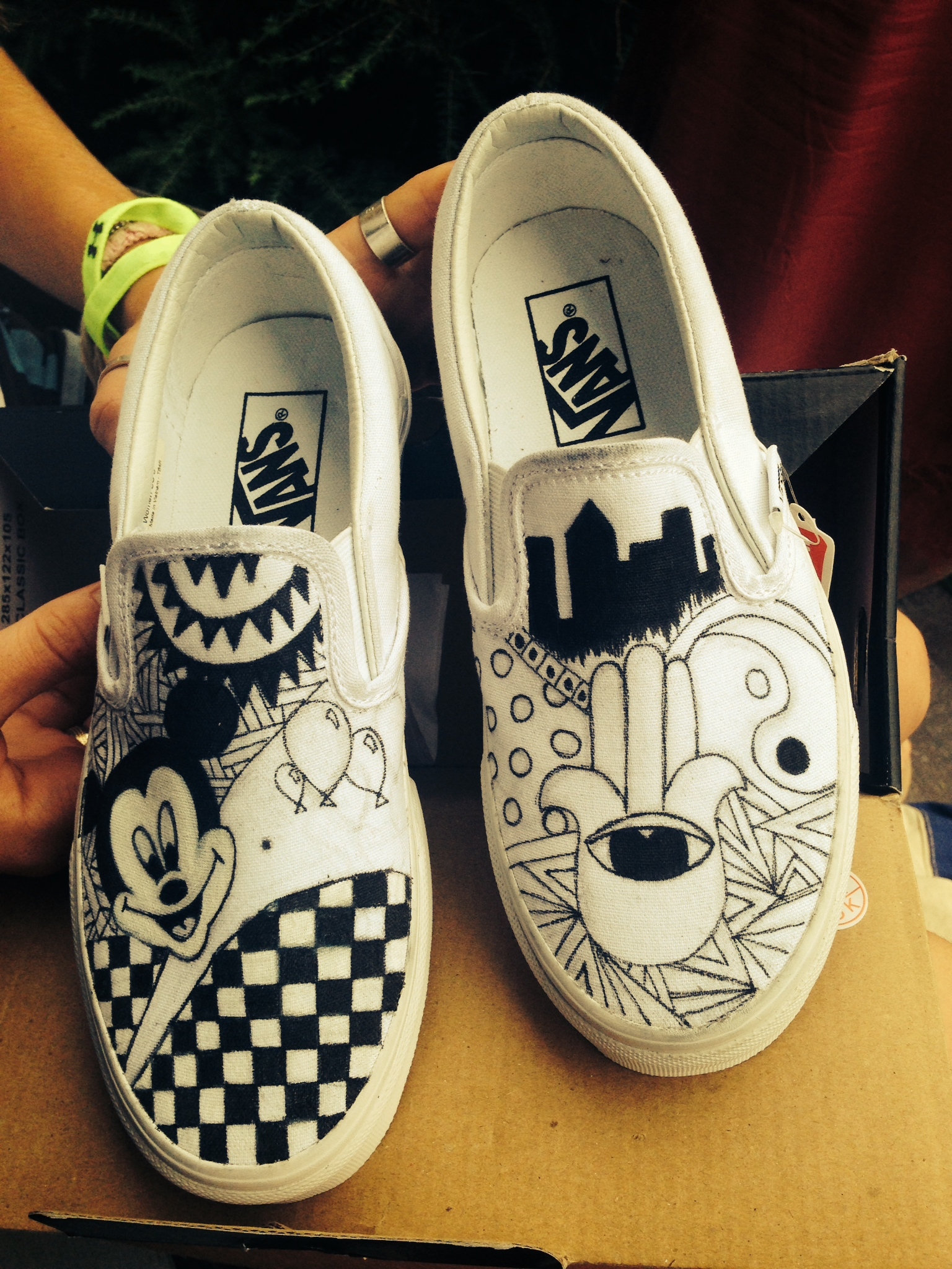 Drawn vans White Shoes — Vans and