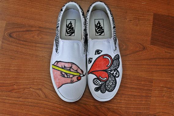 Drawn vans Similar Slip drawn on to