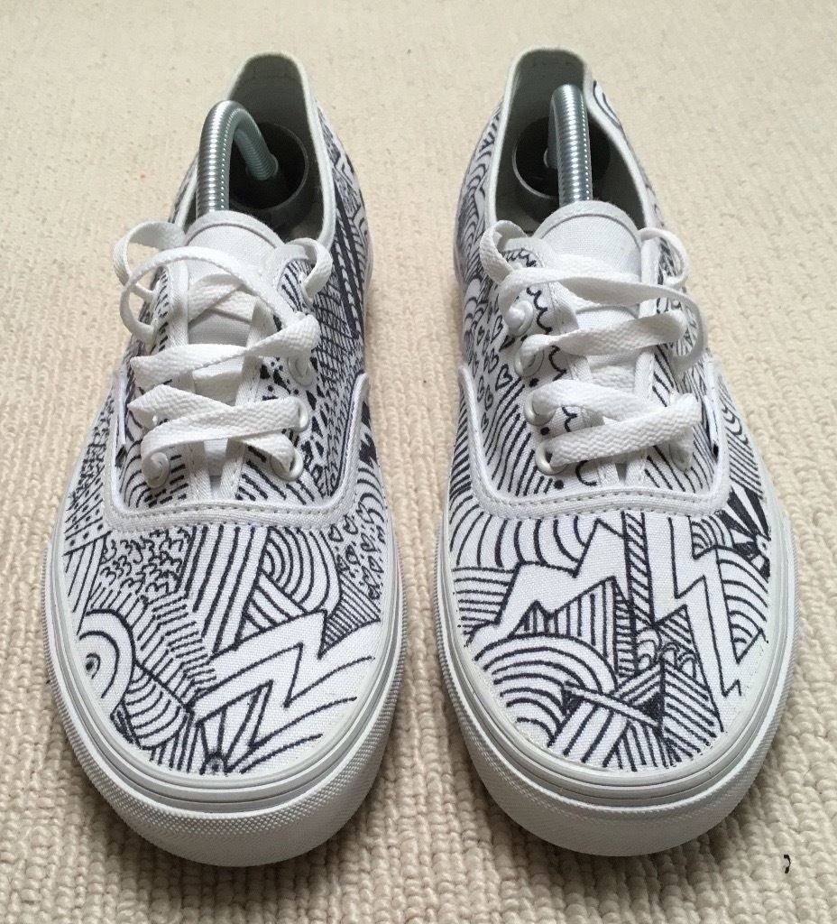 Drawn shoe white van God Trainers Custom (Palace Of