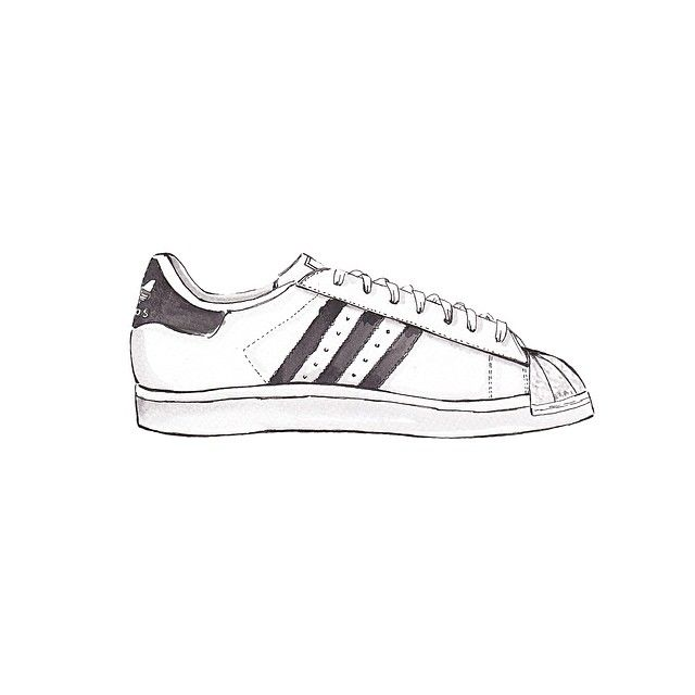 Drawn vans adidas shoe #8
