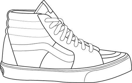 Drawn vans adidas shoe Pinterest  TECHNIQUES Shoe Template