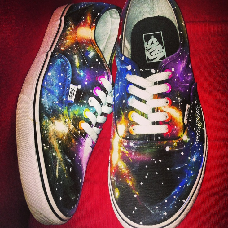 Drawn vans awesome Galaxy shoes painted Vans Painted