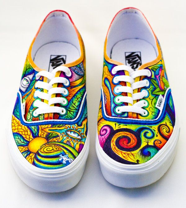 Drawn sneakers white van Pinterest Hand best painted shoes