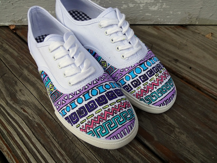 Drawn vans aztec pattern Images on best More shoes