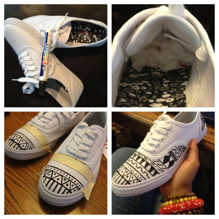 Drawn vans aztec pattern  on Toms Aztec 71
