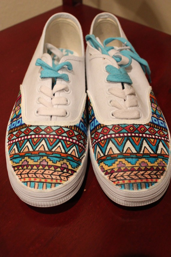 Drawn vans aztec pattern Www Shoes Hand #shoes #shoes