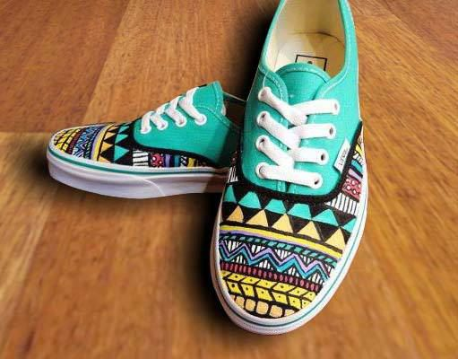 Drawn vans aztec pattern Etsy Sharpie best Pinterest on
