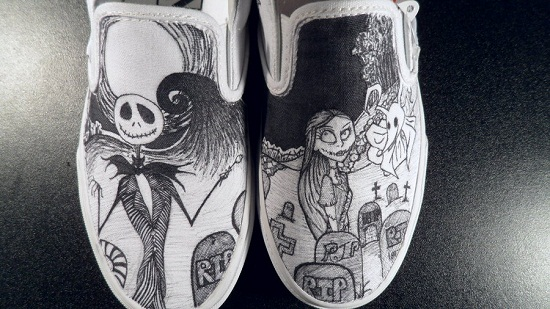 Drawn shoe white van 20 Nightmare and by com