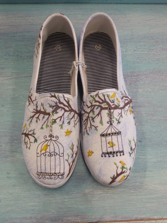 Drawn vans canvas shoe Drawn Womens  Decorated Hand