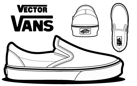 Drawn vans canvas shoe Canvas Early vans and Design