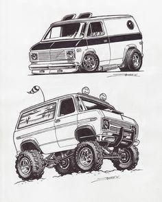Drawn vans cartoon How on sketch van
