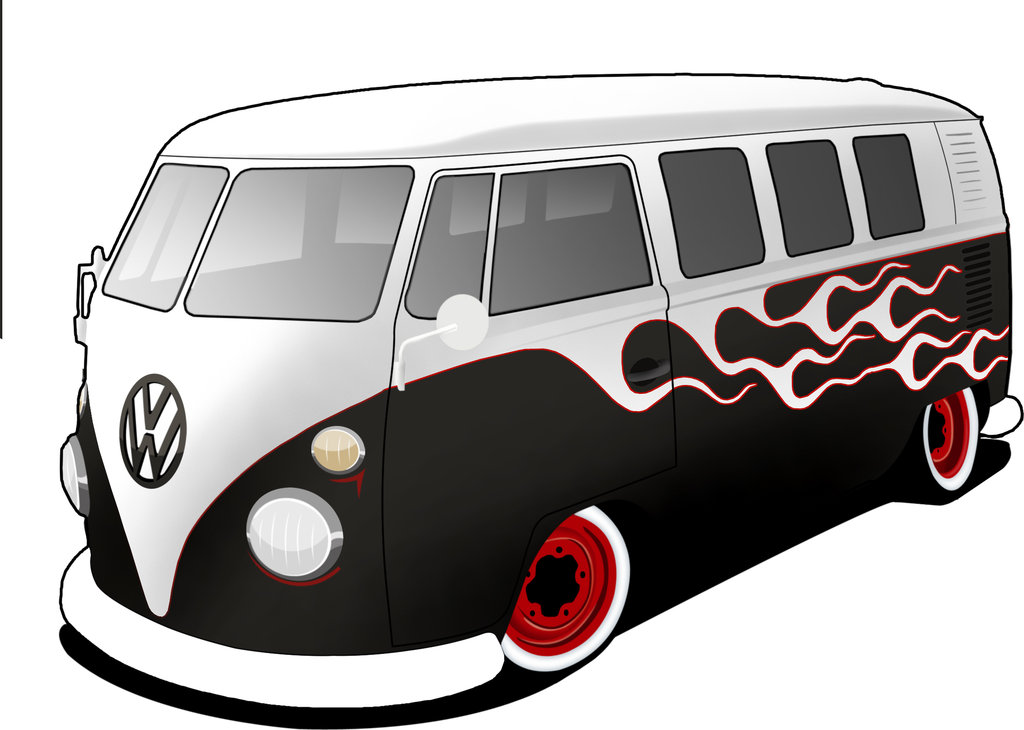 Drawn cartoon bus #10