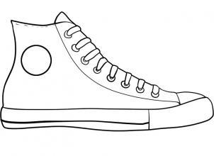 Drawn converse shoe Draw draw chuck draw