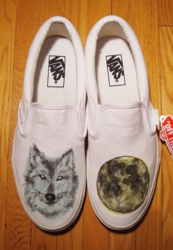 Drawn vans converse Vans Moon Wolf Hand Wolf