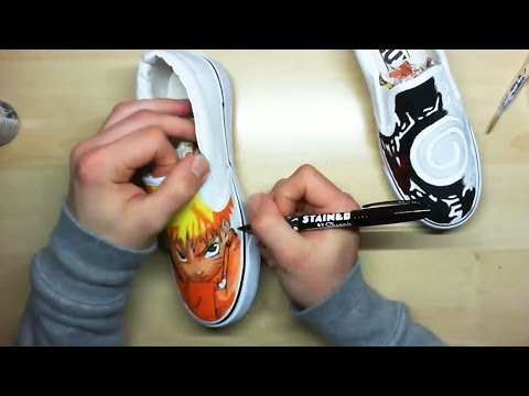 Drawn shoe custom drawn  Draw Custom Painted I