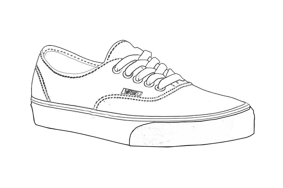 Drawn shoe vans logo How logo to drawing Vans