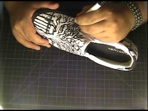 Drawn shoe artwork Freestyle Shoe Drawing Art and