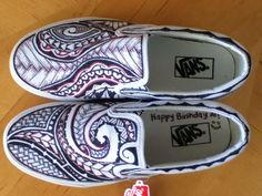 Drawn vans creative Custom getting white  Polynesian