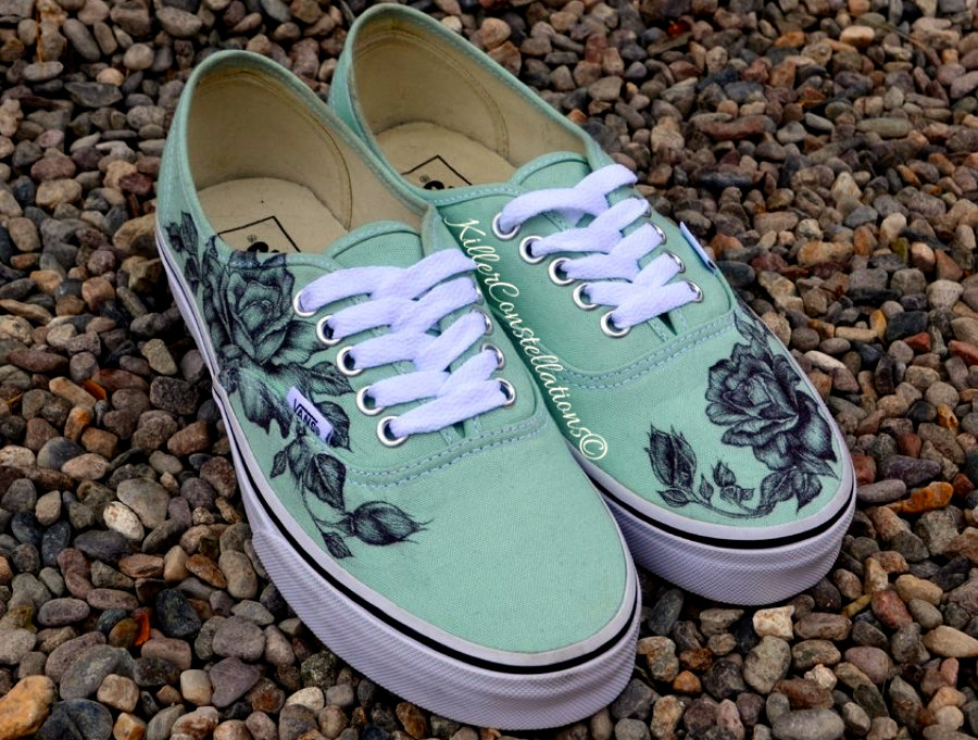 Drawn vans creative Drawn from KillerConstellations Custom Vans