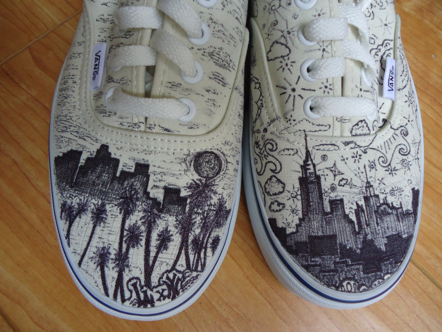Drawn vans creative X Shoes Custom Los //
