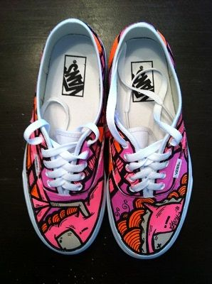Drawn vans custom authentic Hand on Sneakers shoes Painted